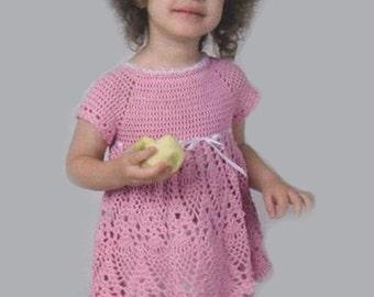 Crochet Pattern. Lace crochet girls dress - Eva. Size: 2T-3T Level - Intermediate