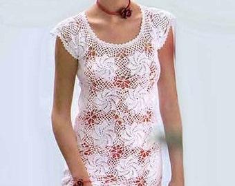 Crochet Pattern. Crochet lace dress - Lili Instant Download Level - Intermediate