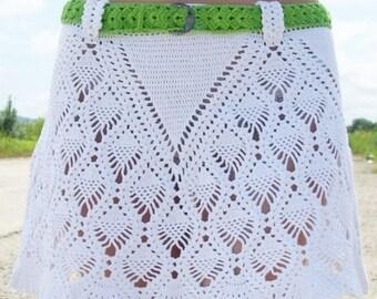 Crochet Pattern. Lace crochet skirt Renata Instant Download Level - Intermediate