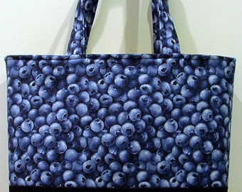NWT Blue Berry Shopper Tote   free shipping usa