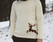 The Stag Sweater for man - Knitting Pattern