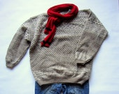 RESERVED FOR CHRISTINE -Sale Hand knit sports sweater for men in traditional Norwegian pattern