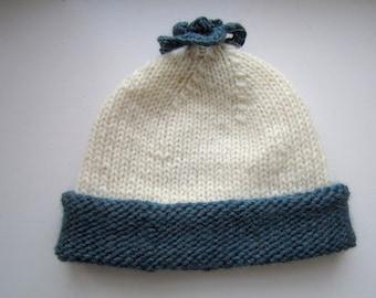 Rustic Nordic Hat - pdf knitting pattern.