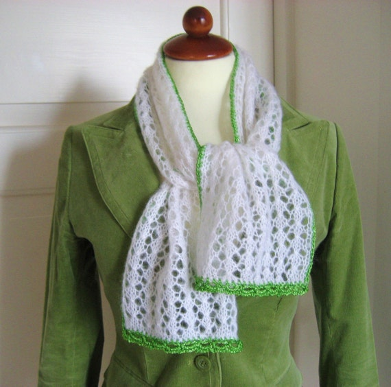 Hand Knit Paris Spring Scarf