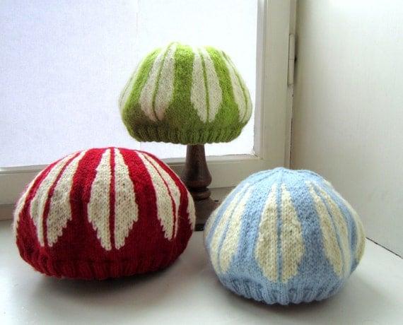 Lotus Bowl Hat - pdf knitting pattern Adult and Children sizes