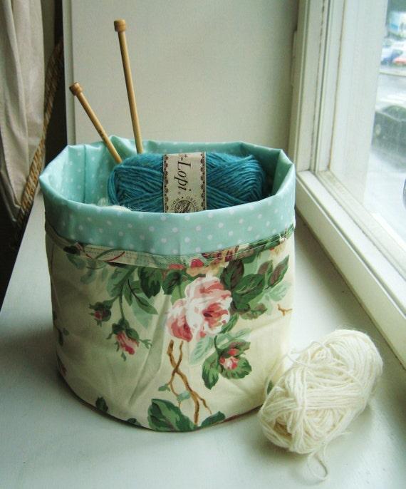 Stash in Style Knitting Basket