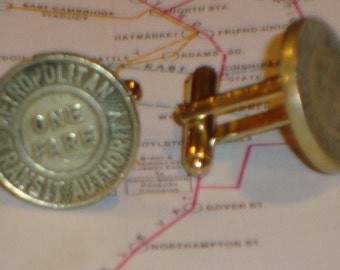 Boston Transit subway Cufflinks OLD Boston