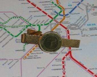 Boston Vintage Subway Token Tie Clip