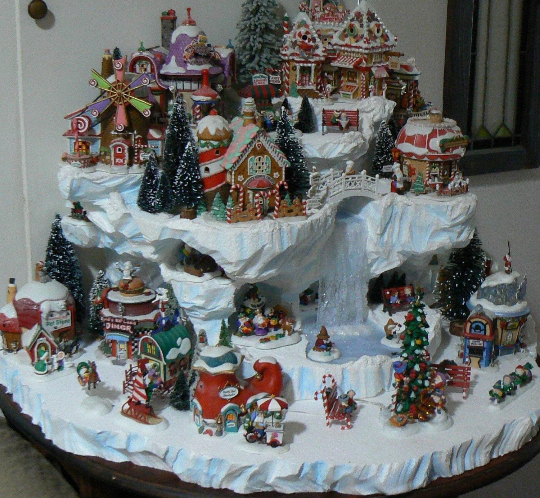 #6C382C Custom Miniature Christmas Village Display Platform 6125 decoration de noel village miniature 1500x1382 px @ aertt.com