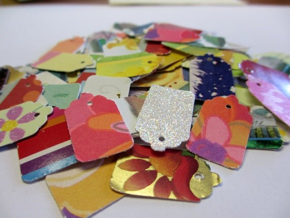 100 Jewelry Price Tags-Recycled          100% Donation to Feline Rescue