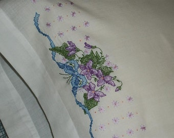 Violets in Bloom Pillow Cases