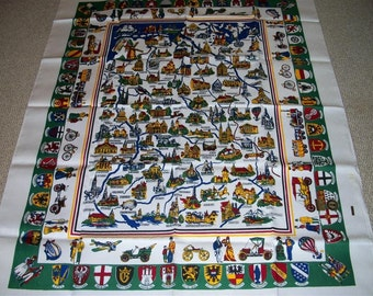 Vintage Souviner Gremany Tablecloth