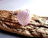 Sea Glass Ring - Beach Glass Ring - Amethyst Sea Glass Ring