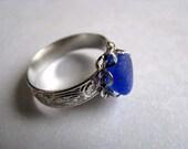 Cobalt Blue Ring - Sea Glass Ring - Beach Glass Ring