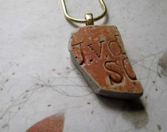 Ceramic Sea Glass - Ceramic Pendant - Ceramic Necklace
