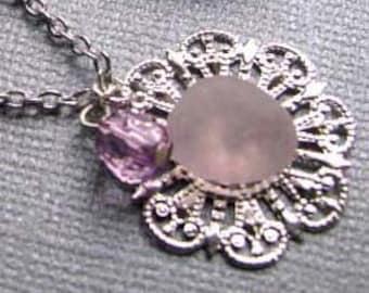 Sea Glass Necklace - Beach Glass Necklace - Amethyst Lavender Sea Glass - Beach Glass Jewelry - Ocean Jewelry Gift - Rare Purple Sea Glass