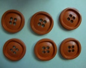 Vintage Buttons - ochre, clay-style