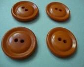 Vintage Buttons - orange saucers