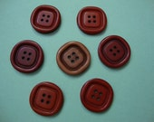 Vintage Buttons - PEI red