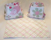 Doll Diaper Set- Flannel Piggy and Floral