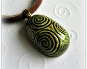 The Druid's Egg Ceramic Pendant