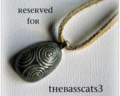 Ceramic Druid's Egg Pendant Reserved for thebasscats3
