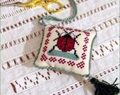 ladybug fob cross stitch chart pattern Giusypatch