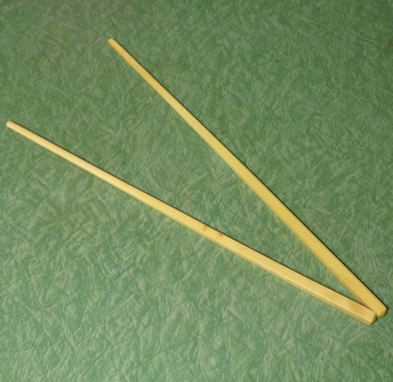 Pair of Chinese Real Ivory Chopsticks