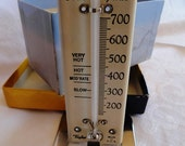 Vintage Taylor oven guide thermometer, porcelain and enamel, for decor