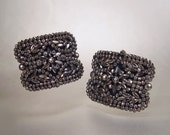 French Victorian Buckles Cut Steel Pair Silver Antique 1880s Jewelry Accessories