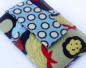 iPod - iTouch - iPhone - PDA - Camera - Cell Phone Sleeve - Case - Holder - Card Holder - Polka Dots and Flowers