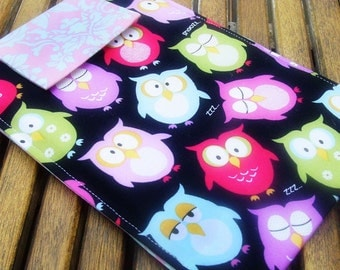 Nook Case, Kindle Case, Kindle Sleeve, Nook Sleeve, Nook Simple Touch, Case, Cover, Sleeve  Ereader Sleeve in Hoot Hoot Nighttime Owls