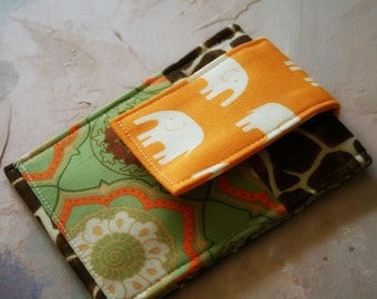Cell Phone Sleeve, iphone 5  sleeve, iphone case, cell phone case in Elephant Safari and gadget cases