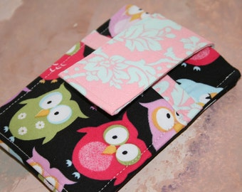 Cell Phone Case, Cell Phone Holder, iphone sleeve, iphone case, iPod case,  iTouch  case,  PDA - Camera Card Holder - Night time Owls