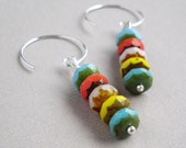 Colorful Czech Glass Beaded Dangle - A Masterpiece Handmade Earrings