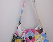 Quilted Patchwork Purse with lot of pockets
