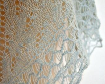 PDF Knitting Pattern / Jade Cashmere One Skein Shawl