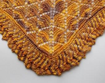 PDF Knitting Pattern / Honey Pot One Skein Shawl