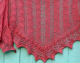 PDF Knitting Pattern / Flambe One Skein Shawl