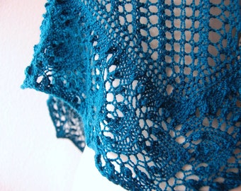 Knitting Pattern PDF / Nebulous One Skein Shawl