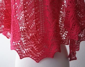 Knitting Pattern PDF / The Lisa One Skein Shawl
