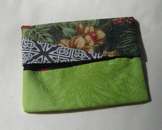 Scrappy Lined MINI FlipFlap Sack--Green Snack Bag