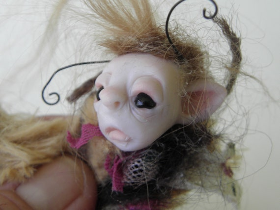 captured in WayLand tiny OOAK HATCHLING POD cocoon fairy  by DinkyDarlings ( 02 )