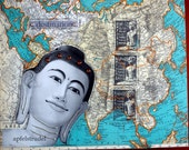 ARTWORK. Collage Map Art Buddha