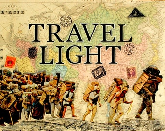 ARTWORK. Travel Light. MapArt Using an 1880s French Hand Coloured Map of Asia