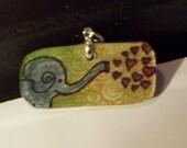 Elephant Love pendant