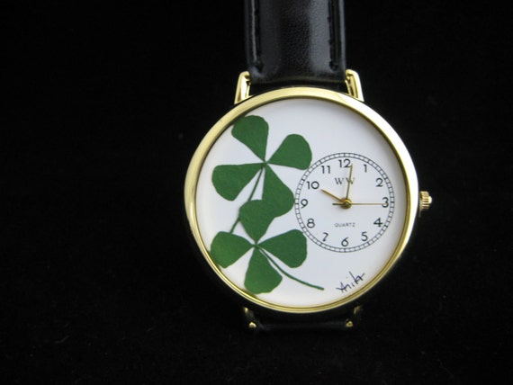 Watch with TWO Four Leaf Clovers to Double Your Luck