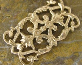 Rectangle Filigree Brass Jewelry Supplies - 6 pieces - 343