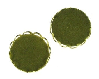 12 Pcs Raw Bare Naked Brass 13mm Scalloped Lace Edge Round Setting 901