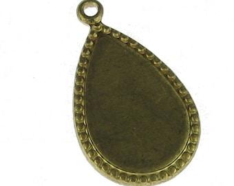 6 Raw Brass Pear Drop Dangle DIY Earring Finding 963
